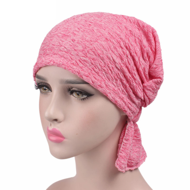 Breathable Hat Women's Bubble Cotton Kerchief Chemo Cap Turban   Skullies     Beanies   Women Winter Hat Cap Headwear Hair Bands