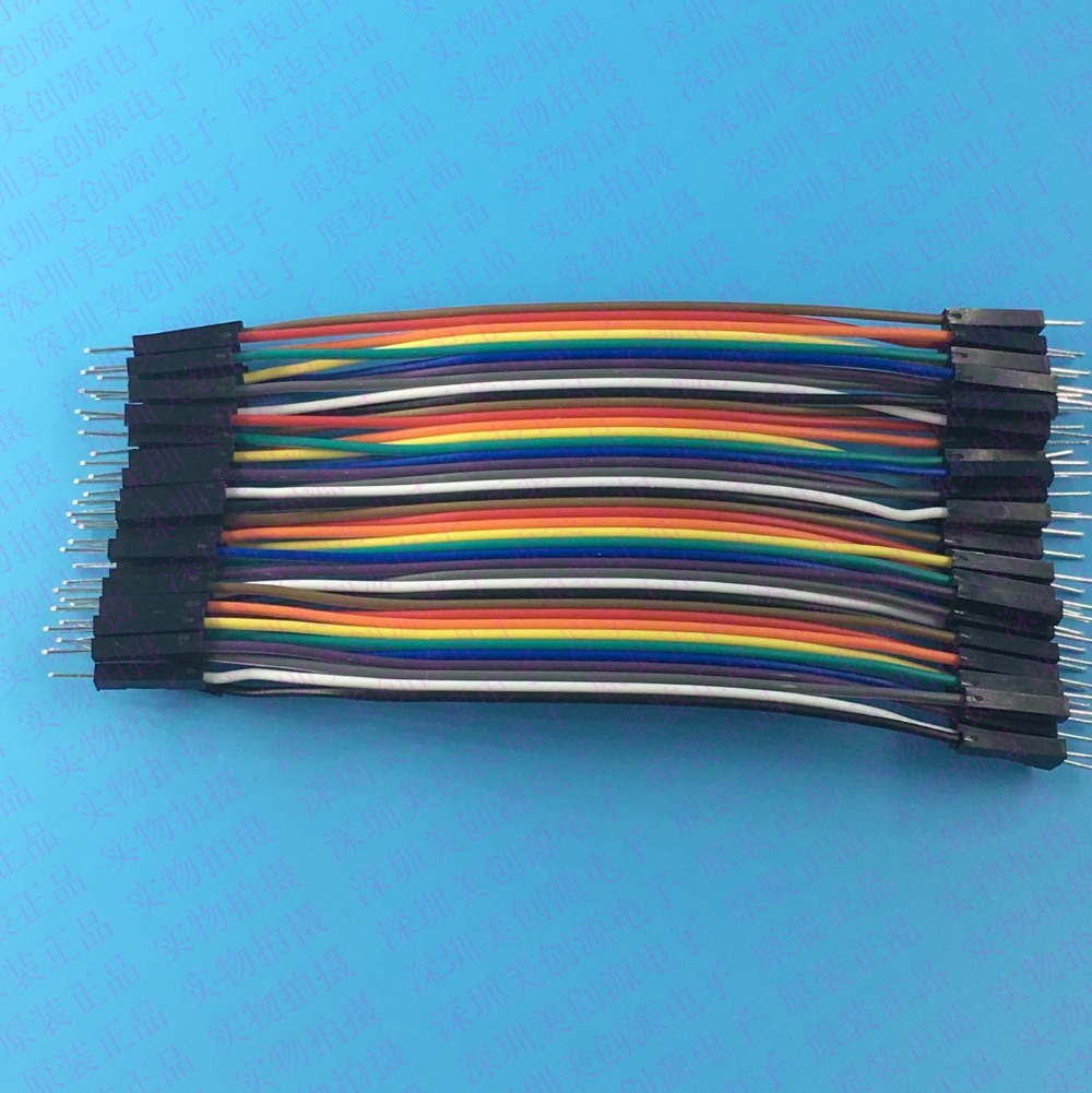 купить Free shipping Dupont line 40pcs 10cm male to male jumper wire Dupont cable breadboard cable jump wire по цене 53.72 рублей