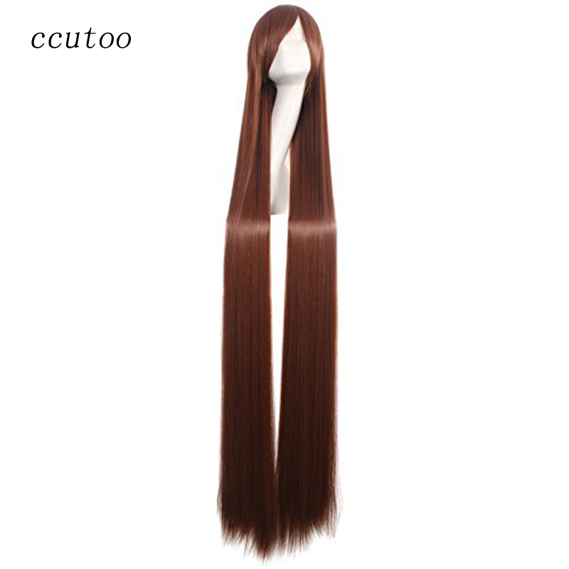 200cm White Long Straight Wig Synthetic Cosplay Wigs 59/'/'