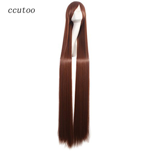 "ccutoo 59"" 150cm Straight Long Full Bangs Synthetic Hair High Temperature Fiber Cosplay Wigs Perrque(China)"