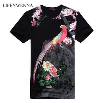 Plus Size 6XL Men's T-Shirt 2019 New Fashion Chinese Style Print T Shirt Men Summer Short-Sleeve Casual Slim Fit 3D Mens T Shirt