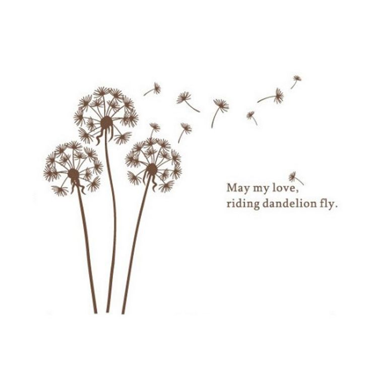 May My Love Riding Dandelion Fly English Quote Brown Dandelion