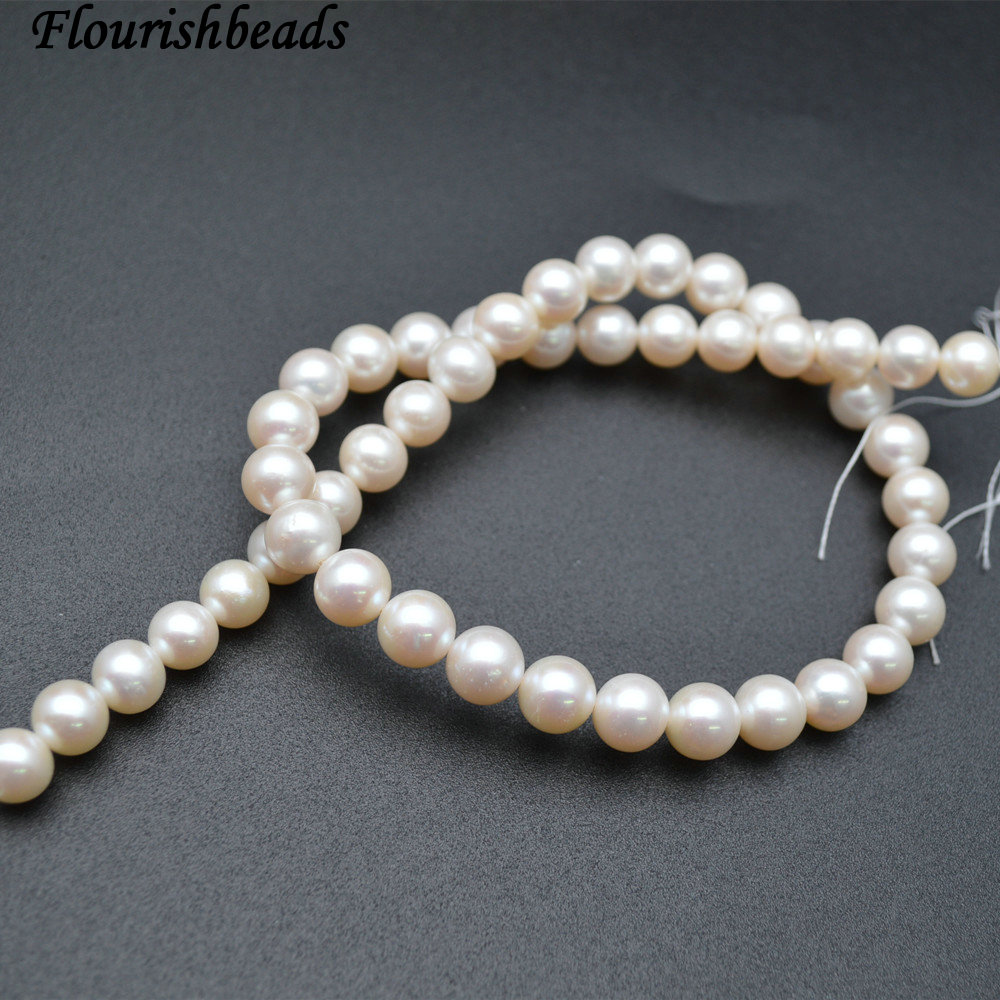 Very High Quality 9mm~10mm White Color Natural Fresh Water Pearl Round Loose BeadsVery High Quality 9mm~10mm White Color Natural Fresh Water Pearl Round Loose Beads