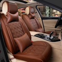 car seat cover universal leather for ford new fiesta mk7 sedan edge everest mustang 2009 2008 2007 2006