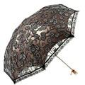 2016 Hot and New 1pc Elegant Beautiful Double-folding Black Coating Lace Ladies Parasol  Umbrella Sun Shade Anti-uv (black)