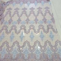 ZH 611 top Quality beaded Lace Fabric Beautiful Nigerian Lace Fabric For Wedding dress