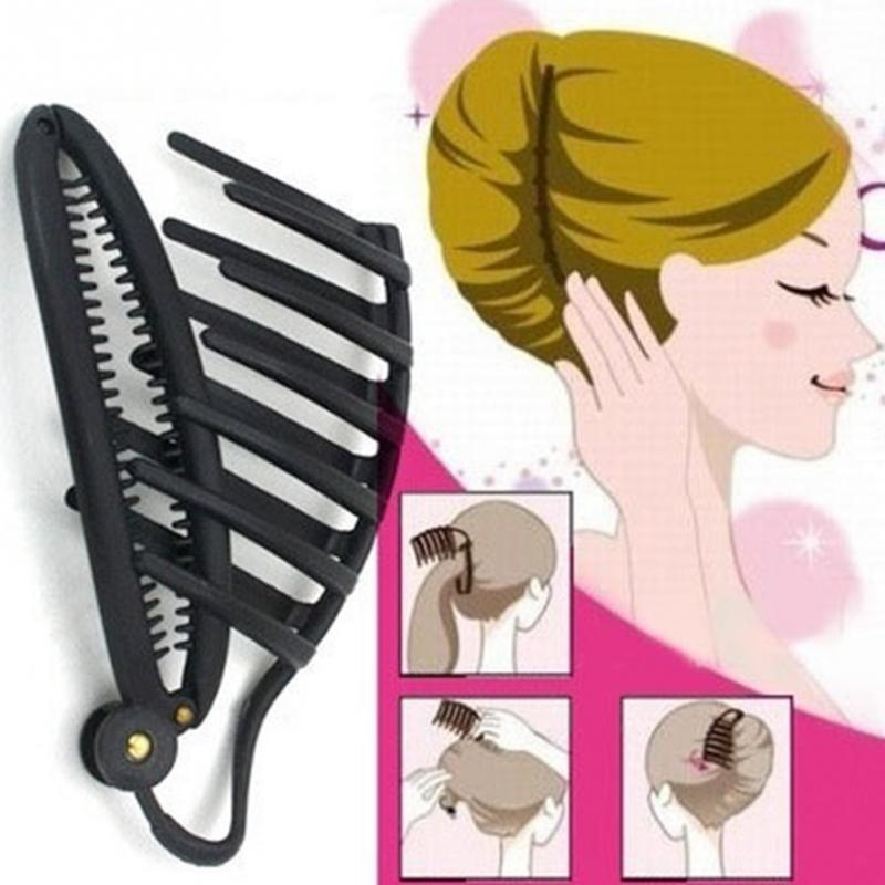 Best Sale High Quality Newest For Women Girls Gifts Butterfly Holding Hair Claw Bright Black Section Styling Tools Hair Clip