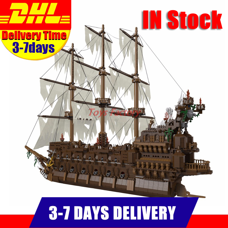 IN Stock DHL Free Lepin 16016 3652Pcs Movies Series MOC The Flying the Netherlands Building Blocks Bricks Toys to Children Gifts lepin 16016 3652pcs movie series flying the dutch blocks bricks toys for children compatible legoing pirates caribbean