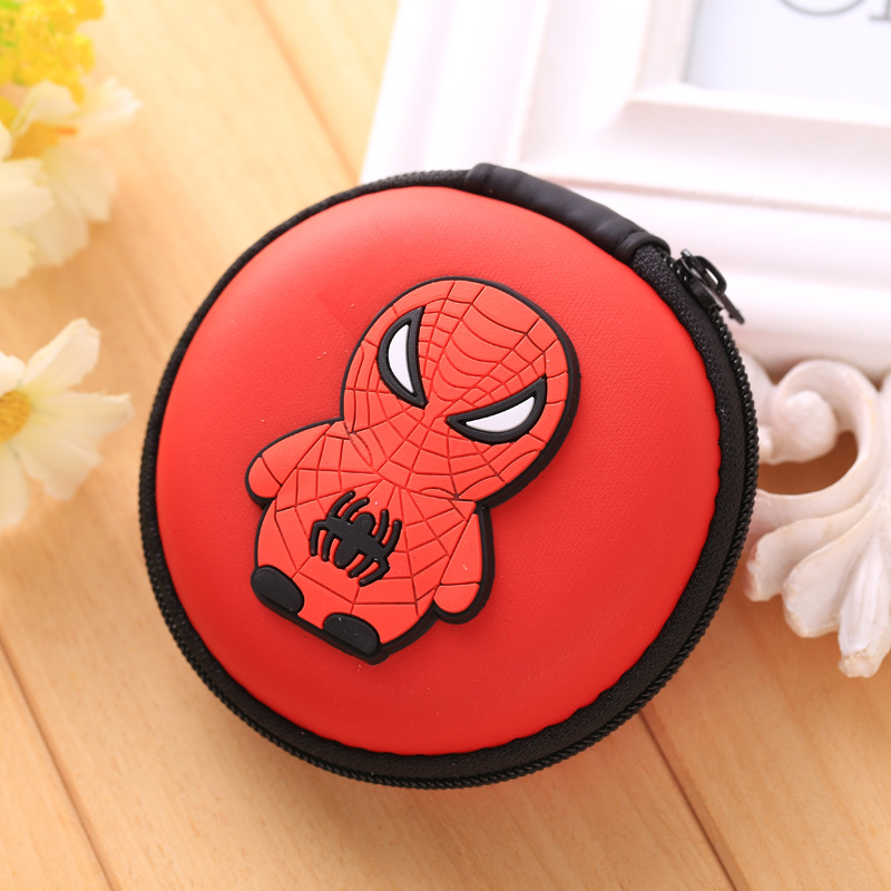 Super Hero Spider-man Silicone Coin Purse Rubber Zipper Mini Wallets Iron Men Headphone Organizer Storage Bags Kids Coin Pounch novely silicone zipper coin wallets superman heroes mini storage organizer purse creative key package waterproof headset bags