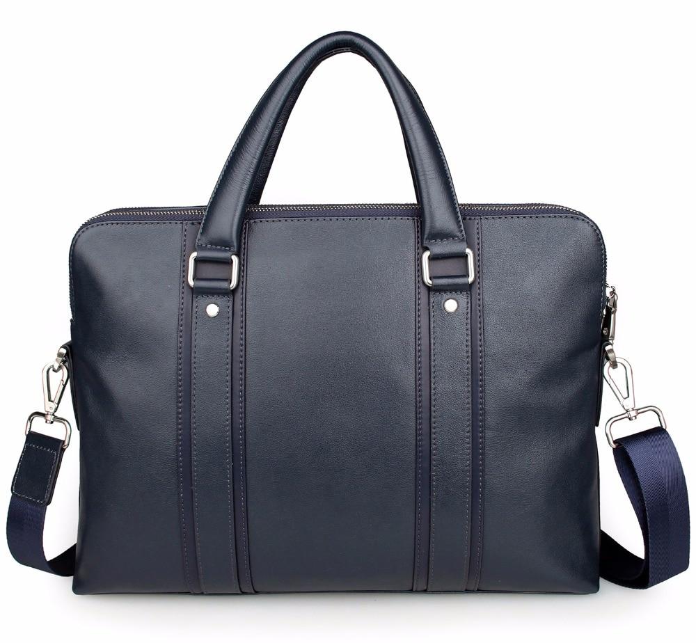 Augus Dark Blue Business Bag For Men High Grade Cow Leather Mesenger Bag Trendy Shoulder Bag Fshional Cross body Bag 7325K napapijri guji check dark blue