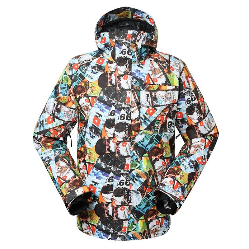 GSOU SNOW costume de ski pour hommes vêtements de ski imperméables chauds et respirants pour hommes