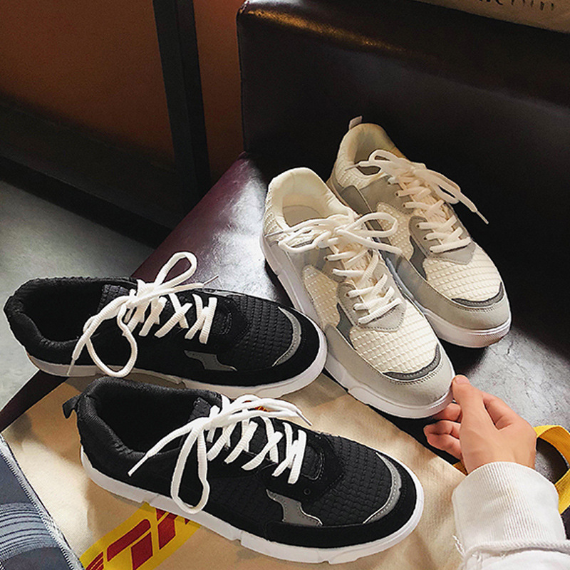 Zapatillas Hombres Calle Moda blanco Fresco A315 Negro De Hombre Malla Blanca Plana Negro Transpirable Marca Zapatos FwCdHCq