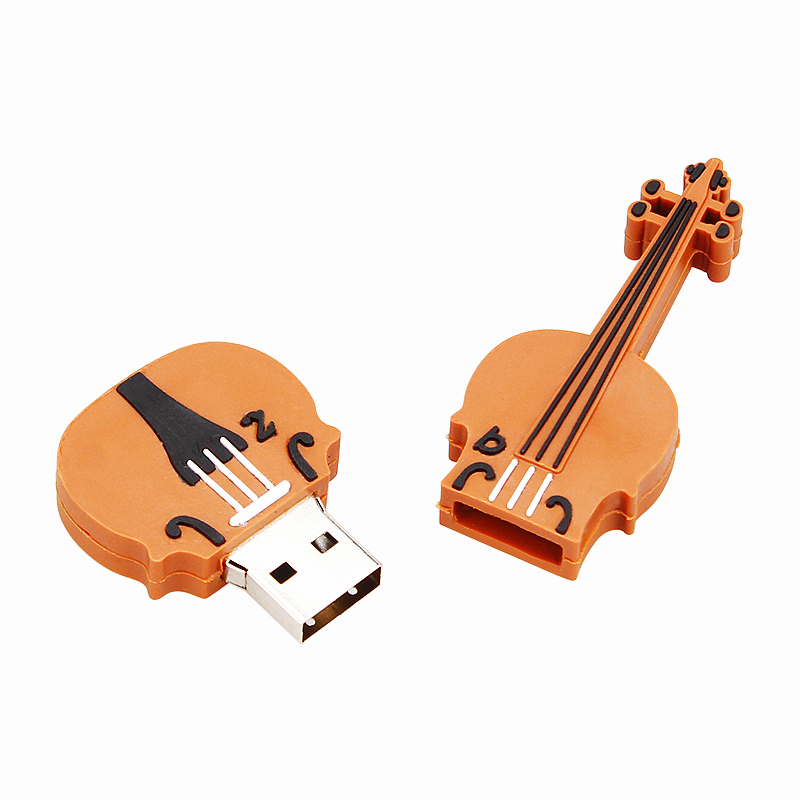 Image 3 - New cartoon musical instrument guitar usb flash drive 4GB 8GB 16GB 32GB 64GB pen drive pendrive violin flash memory stick gift-in USB Flash Drives from Computer & Office