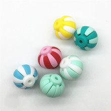 Chenkai 50pcs BPA Free Loose Silicone Chinese Lantern Beads DIY Baby Pacifier Teether Mommy Necklace Toy Gift Accessories