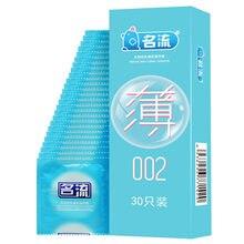 Mingliu 30 pçs prazer ultra fino borracha preservativos fino pênis manga íntima contracepção condones kondom ferramenta de sexo para homem