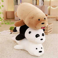 Cute Super Soft Cartoon Kneeling Three Naked Bear Plush Toy Pillow Doll Panda Polar Bear Brown Bear Sofa Toy Gift Comforting Dol