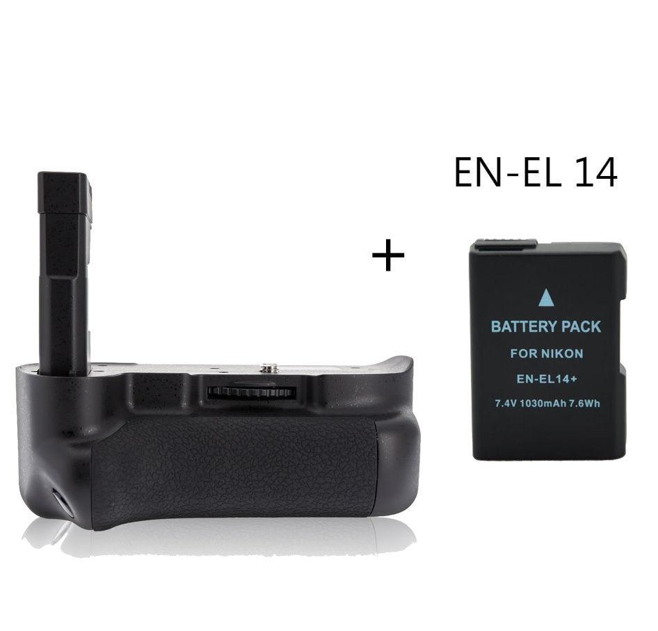 ФОТО Meike MK-D5300 Multi-Power Battery Grip Pack for Nikon D5300 + EN-EL 14 battery