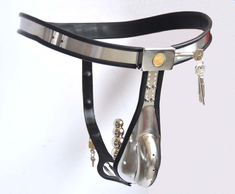Male Chastity Belt Stainless Steel Arc Male Chastity Belt Cage Device Wear Comfortable -1172