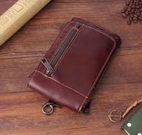 Shoulder Hook Loop Belt Genuine Leather Mobile Phone Case For Xiaomi Redmi Note 5 Pro ZTE