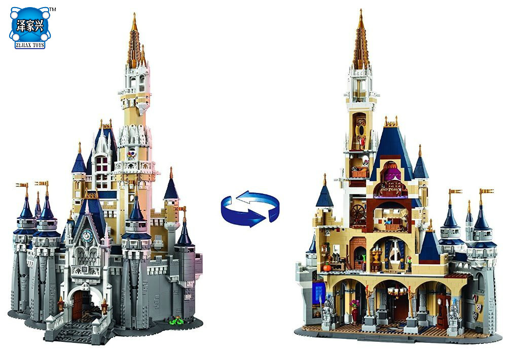 Girl's DIy Model Cinderella Princess Castle City Set 4080pcs Model Building Block Kid Toy Funny Birthday Gift Compatible Lepins lepine 16008 cinderella princess castle 4080pcs model building block toy children christmas gift compatible 71040 girl lepine