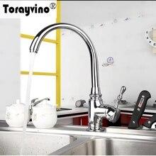 Torayvino Лидер продаж Современная бортике Кухня бассейна и раковина вращения Polised Chrome ML-028 смеситель кран
