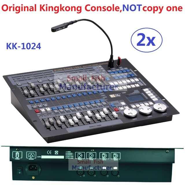 2 XLot Оригинальный Kingkong 1024 DMX Консоли Профессиональный Этап Движущиеся Огни Оборудования 1024 Каналов DMX512 Контроллер Flgihtcase