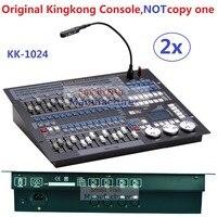 2X Лот оригинальный Kingkong 1024 DMX консоль профессиональная сценическая движущаяся подсветка оборудование 1024 каналов DMX512 Контроллер Flgihtcase