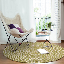 New Round Carpet Weave Non-Slip Floor Rugs Yoga Mat For Bedroom Parlor Living Room Play Tatami Computer Chair Hang Basket Mats