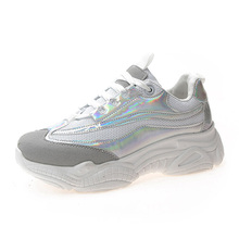 YeddaMavis Silver Daddy Shoes Women Sneakers Womens 2019 Summer 5CM Platform Casual Woman Running