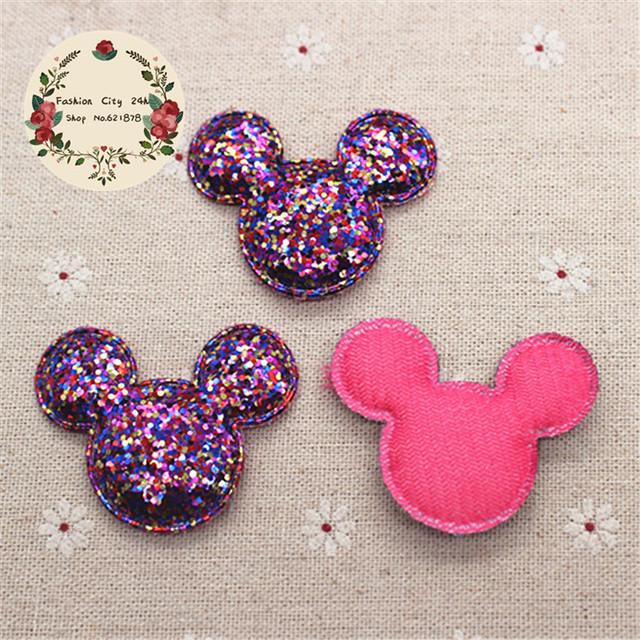 DIY Kawaii Padded Glitter Mickey Patches