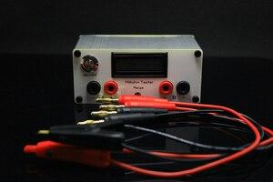 Image 5 - Milliohm metre yüksek hassasiyetli dijital mikro ohm direnç test aleti LCD ekran dört telli testi + Kelvin klip DC 12V güç