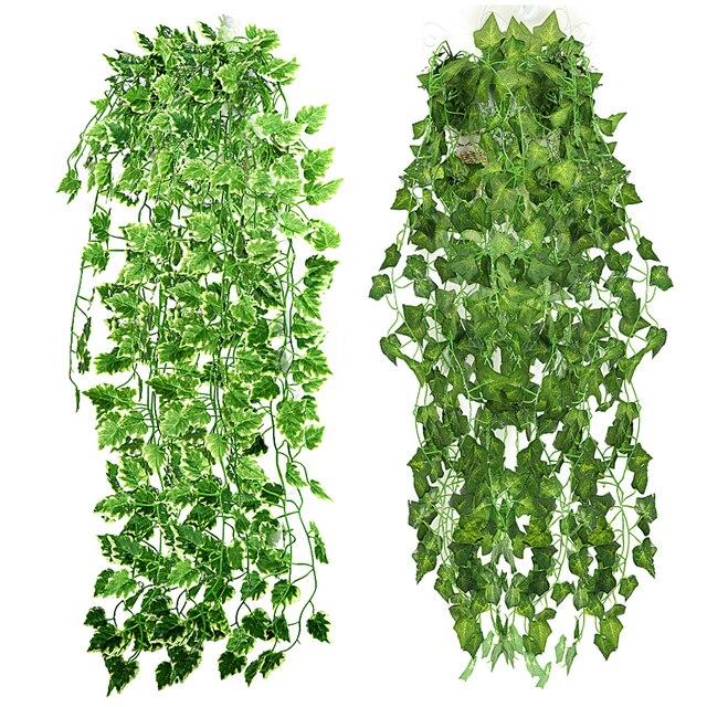 Популярный Домашний Декор зеленое растение Плющ лист искусственный цветок пластиковое украшение из плюща Искусственные цветы стены