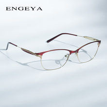 ENGEYA Metal Glasses Frame Women Prescription Eyewear Retro Optical Clear Myopia Computer Brand Designer Eyeglasses #180
