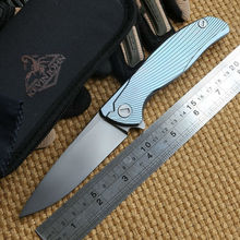 Kevin John S35VN blade Icebreaker F95 Flipper folding knife double row ceramic ball Titanium camping hunt pocket knife EDC tools