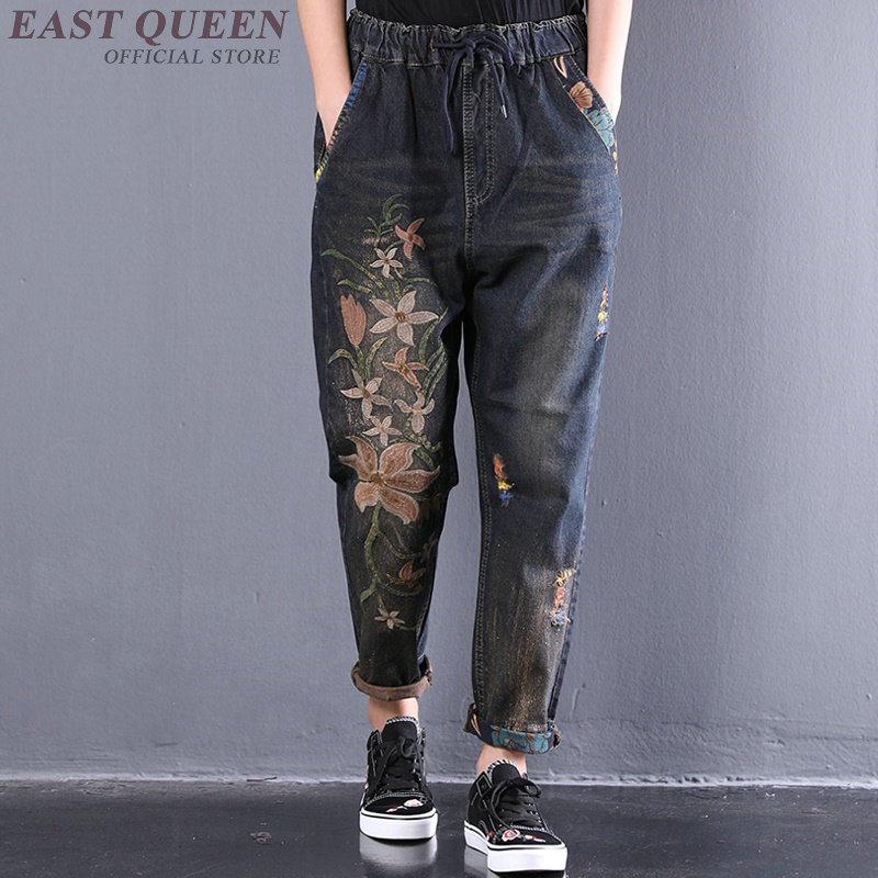 Aliexpress.com : Buy Embroidered jeans for women baggy ...