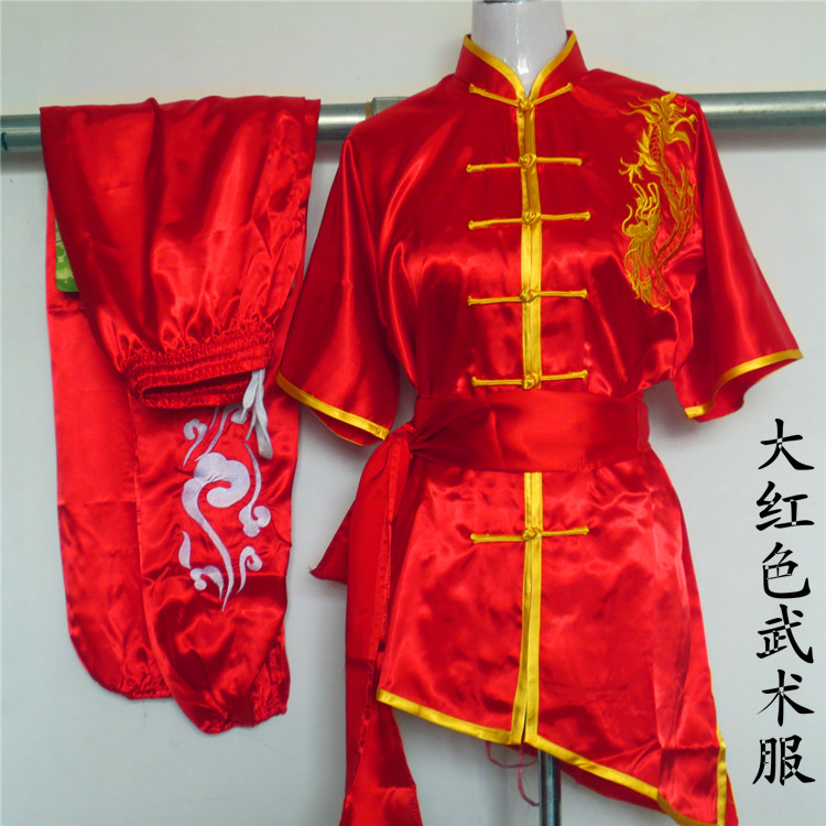 цена New Chinese Kung Fu Suit Martial arts performance clothing dragon Embroidery Wushu clothes Tai Chi uniforms for adult child онлайн в 2017 году