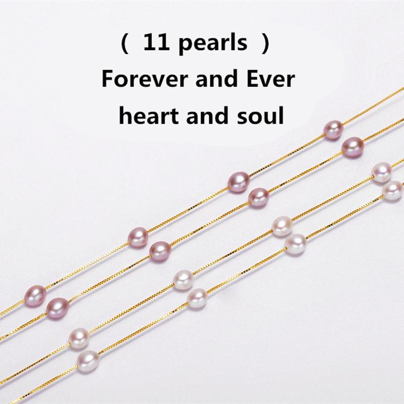 Mode 925 sterling silver smycken Natural Pearl Choker Halsband för - Fina smycken - Foto 3