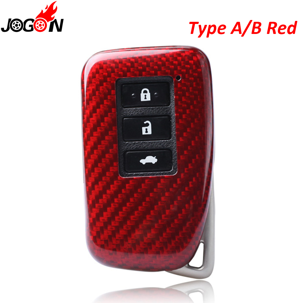 Black Red Carbon Fiber Remote Key Fob Case Shell Cover For Lexus RC200t RC300 RC300h RC350