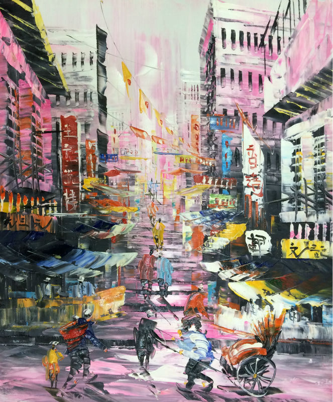 Hong Kong Art: Aliexpress.com : Buy Hand Painted Oil Painting On Canvas