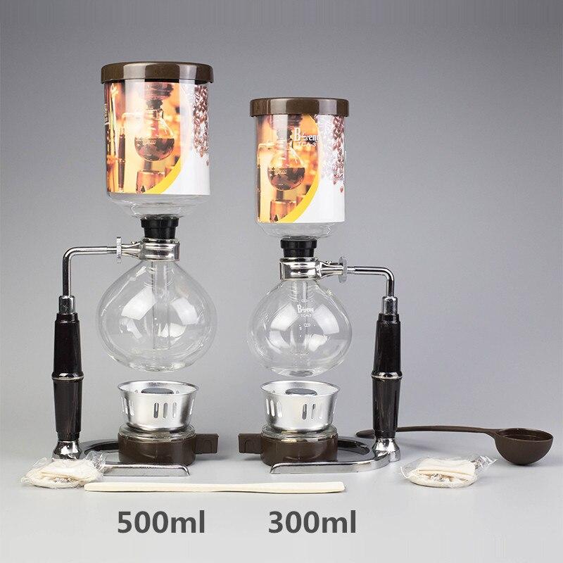 Sifone macchina per il Caffè 300ml 500ml Sifone Pentole Filtri di Tè In Stile Giapponese A Sifone di Caffè del Sifone Macchina