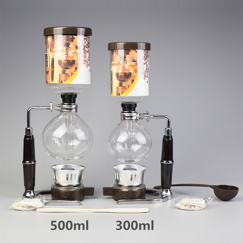 Syphon Coffee Maker 300ml 500ml Syphon Pots Filters Japanese Style Tea Siphon Filter Coffee Siphon Machine