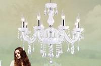 Işıklar ve Aydınlatma'ten Avizeler'de Led kristal avize ev aydınlatma armatürü lustres de cristal Modern mutfak yemek odası oturma odası avizeler candelabro