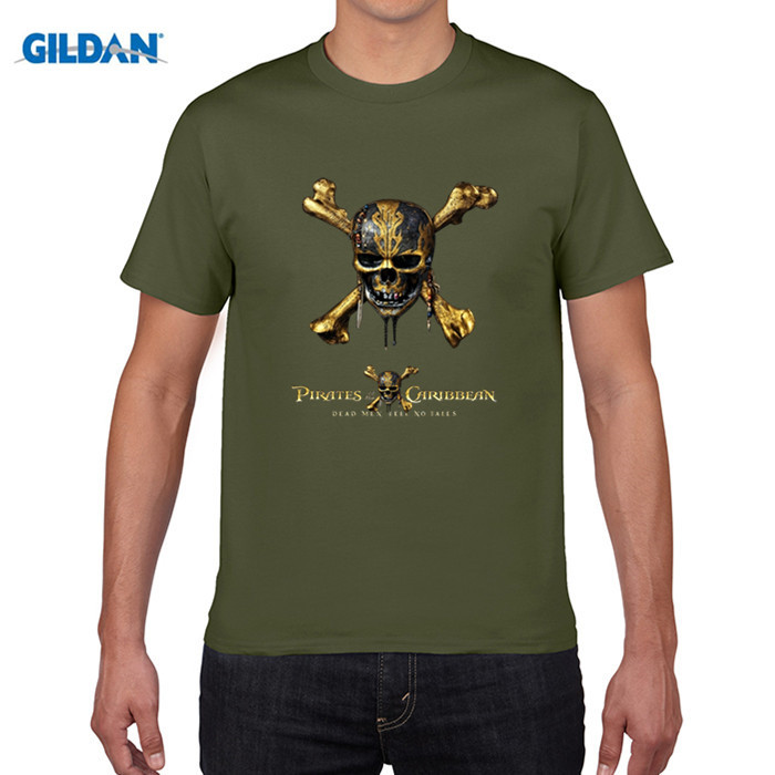 GILDAN pure cotton round collar T-shirt New Boys Pirates Of The Caribbean T-shirts Summer Fashion O Neck Short Sleeve T Shirt