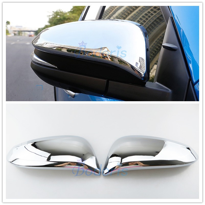 Accessories Chrome Door Side Light Mirror Covers Trim For 2012-2017 Toyota Camry
