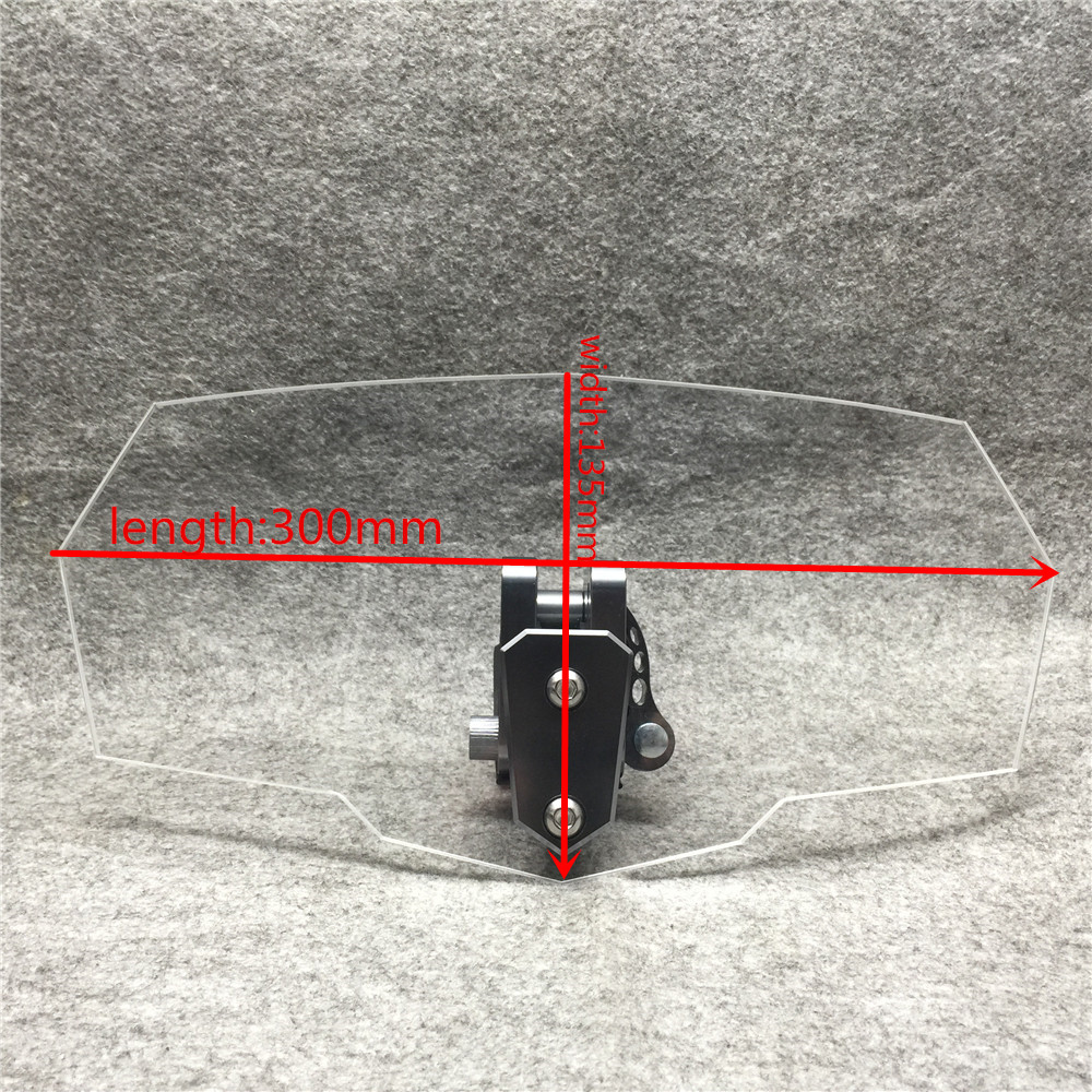 Universal Transparent Upper Outer Windshield Air Wind Deflectors Windscreen Bracket Set Adjustable for MotorcycleUniversal Transparent Upper Outer Windshield Air Wind Deflectors Windscreen Bracket Set Adjustable for Motorcycle