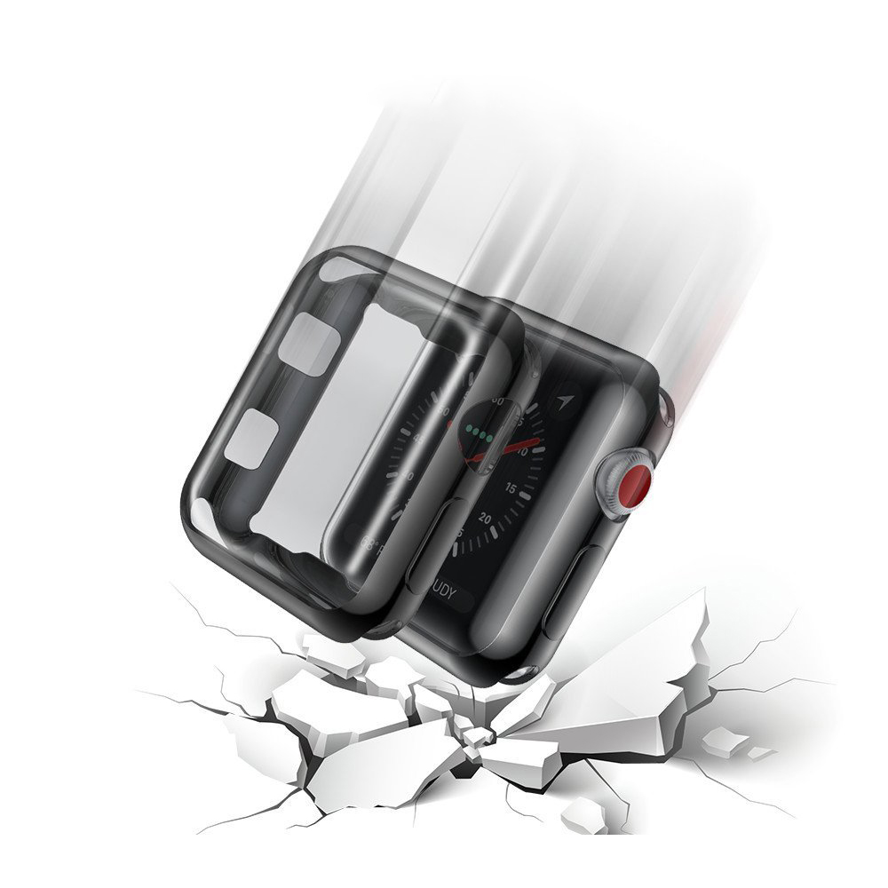 Cell Phone Accessories For Apple Watch Series 3 38/42mm Full Cover Bumper Case With Screen Protector
