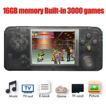 16GB RS-97 RETROGAME Handheld Game Console 64bit 3.0 inch LCD Built-in 3000 Games Portable Game Player with retail box(China)