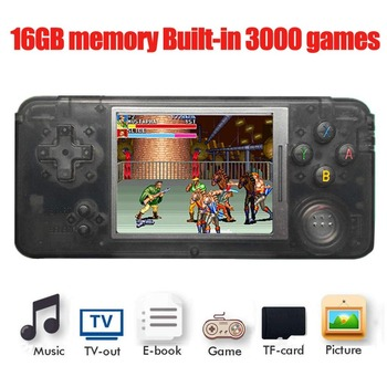 16GB RS-97 RETROGAME Handheld Game Console 64bit 3.0 inch LCD Built-in 3000 Games Portable Game Player with retail box