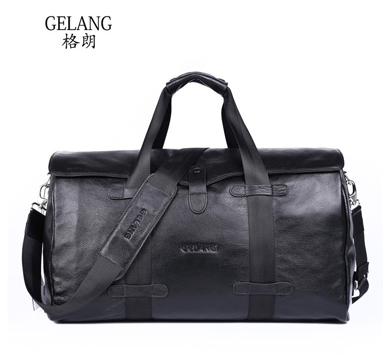 First layer of cowhide Men travel bag  Genuine Leather men  bags 7071lc free shiping 2015 brand genuine leather travel bag first layer of cowhide travel bags for men tote bag