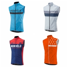 2019 MORVELO pro team cycling bike vest windproof  superlight Gilet mesh fabric at back Ropa Ciclismo road mtb